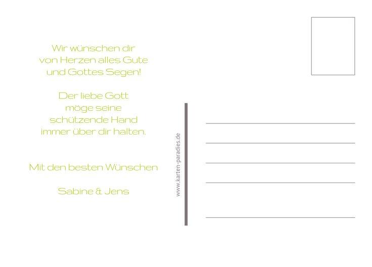 Ansicht 3 - Glückwunschkarte Kommunion Taube