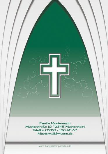 Ansicht 2 - Taufe Dankeskarte gotischer Bogen