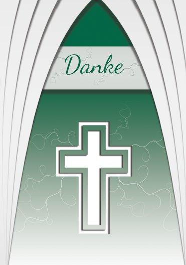 Ansicht 3 - Taufe Dankeskarte gotischer Bogen
