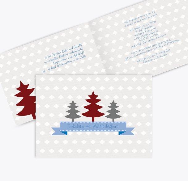 Einladung Tannenbaum Banner