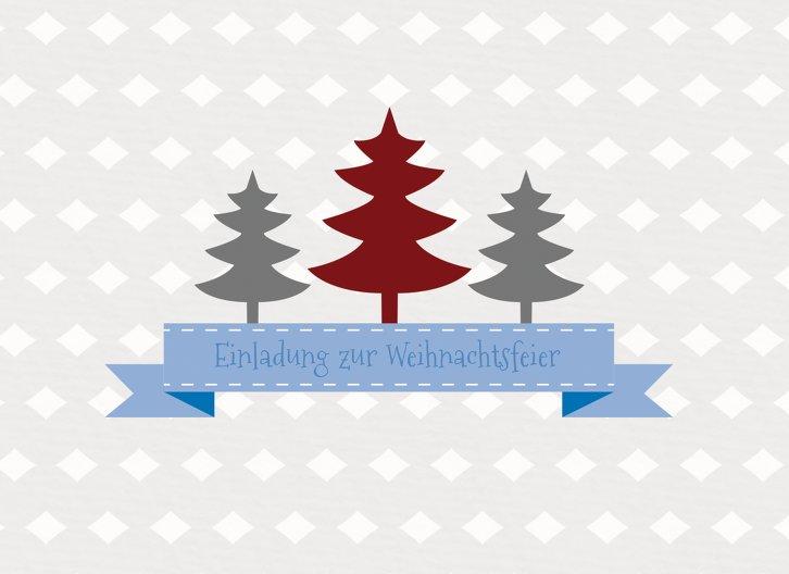 Ansicht 3 - Einladung Tannenbaum Banner
