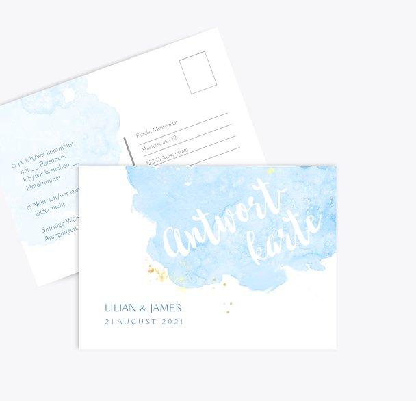 Hochzeit Antwortkarte Wolke Sieben