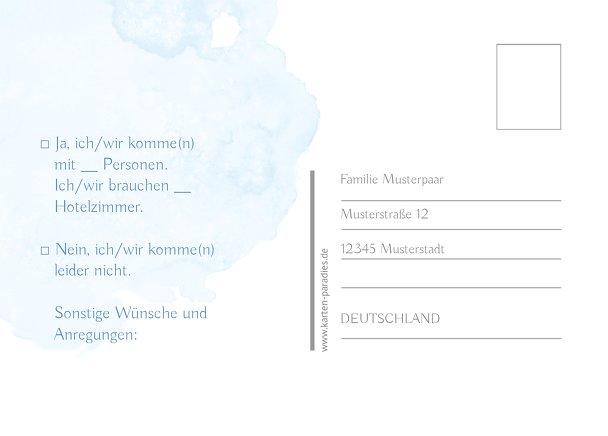 Ansicht 3 - Hochzeit Antwortkarte Wolke Sieben