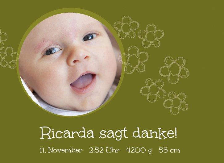 Ansicht 3 - Baby Dankeskarte Blüten