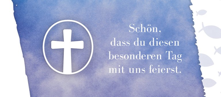 Ansicht 2 - Kommunion Tischkarte Himmelreich