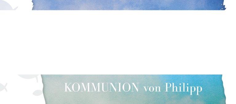 Ansicht 3 - Kommunion Tischkarte Himmelreich