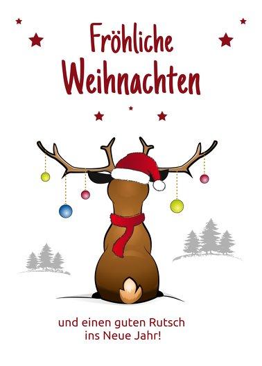 Ansicht 2 - Weihnachtsgrußkarte Rudolph