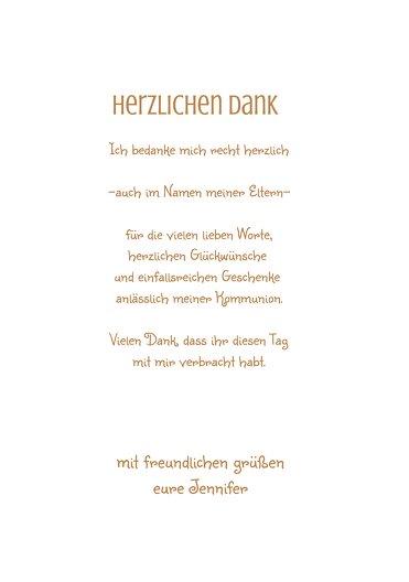 Ansicht 5 - Kommunion Danke Spruchkreis