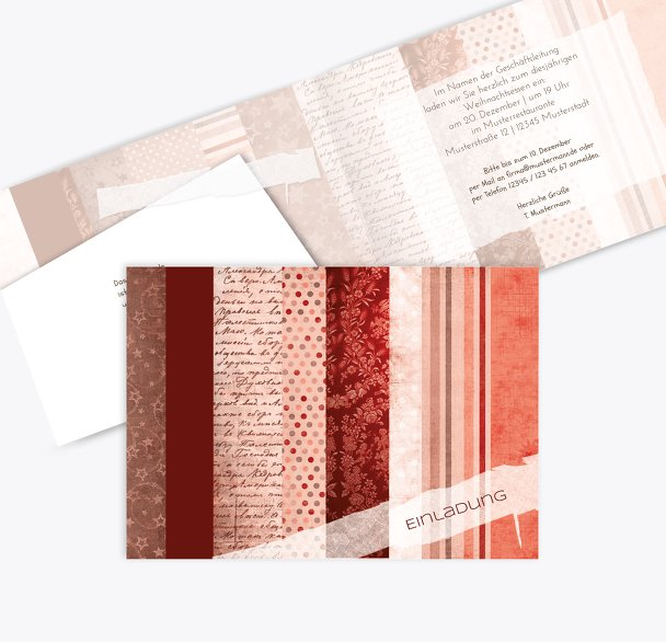 Einladung Geschenkpapier