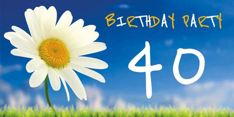 Ansicht 3 - Geburtstagseinladung Lebensfreude 40