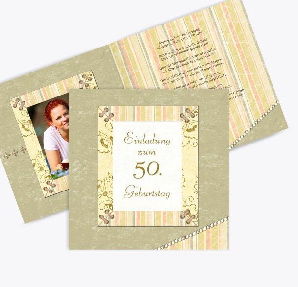 Geburtstagseinladung Nostalgie 50 Foto