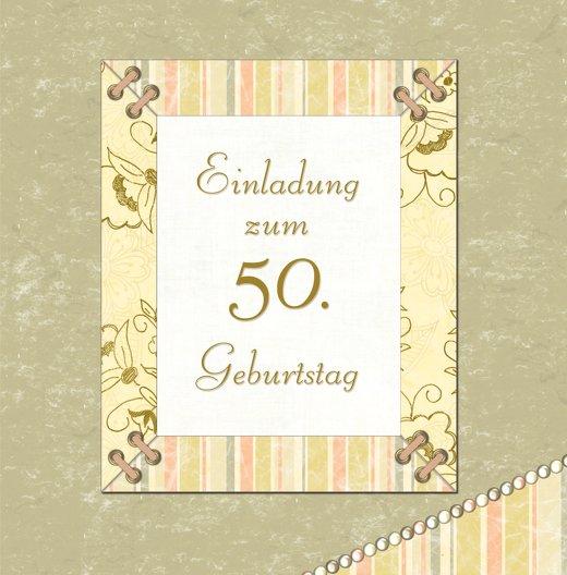 Ansicht 3 - Geburtstagseinladung Nostalgie 50 Foto
