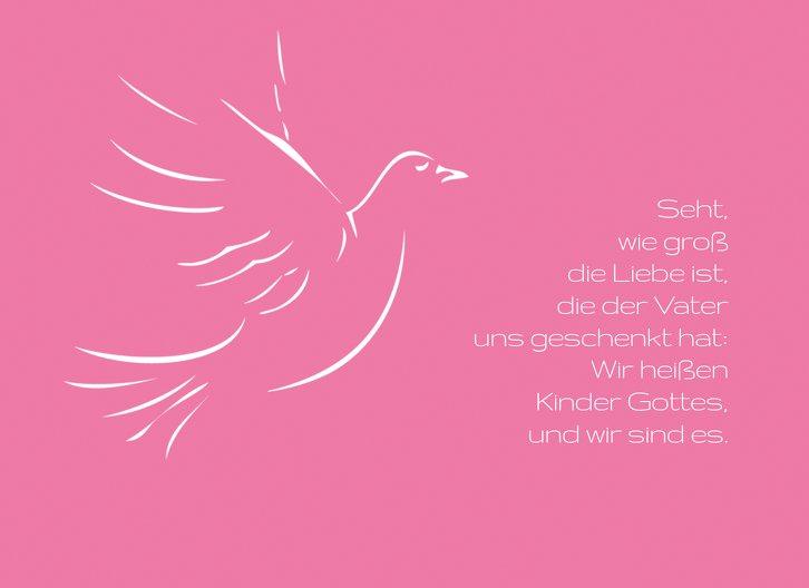 Ansicht 3 - Kommunion Dankeskarte Pigeon