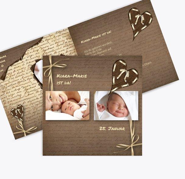 Geburtskarte Gedicht mit Herz