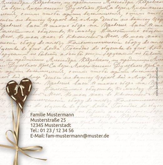Ansicht 2 - Geburtskarte Gedicht mit Herz