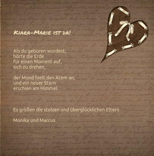 Ansicht 5 - Geburtskarte Gedicht mit Herz
