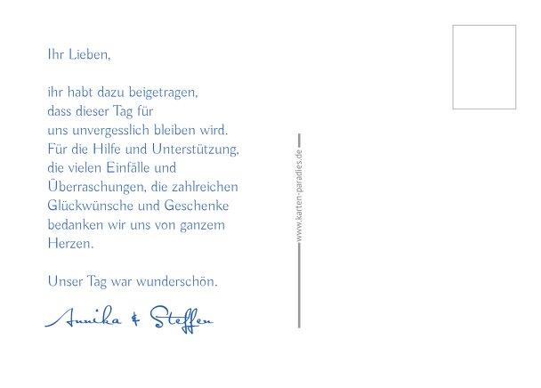 Ansicht 3 - Hochzeit Dankeskarte Buchstabenrätsel