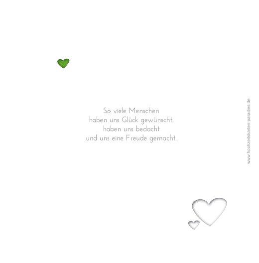 Ansicht 2 - Hochzeit Dankeskarte Herzform