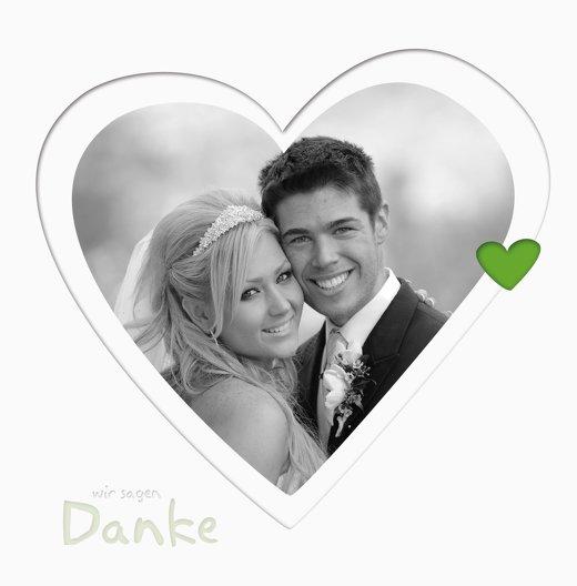 Ansicht 4 - Hochzeit Dankeskarte Herzform