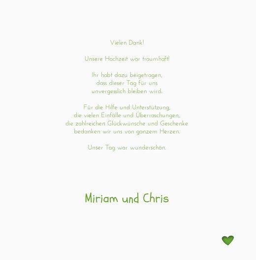 Ansicht 5 - Hochzeit Dankeskarte Herzform