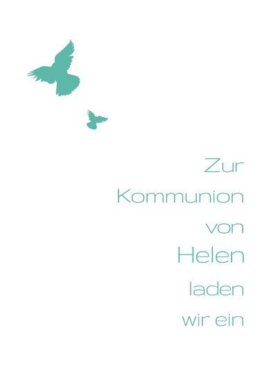 Ansicht 2 - Kommunionskarte Taube