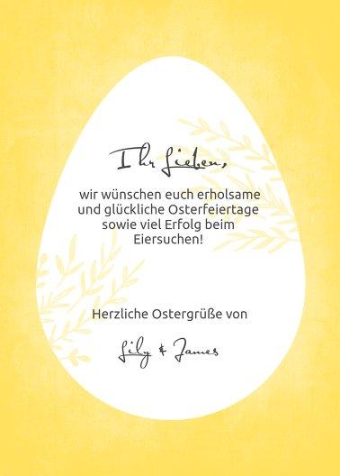 Ansicht 3 - Osterkarte Ei