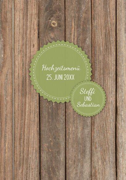 Ansicht 3 - Hochzeit Menükarte Vintage Holz