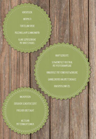 Ansicht 5 - Hochzeit Menükarte Vintage Holz