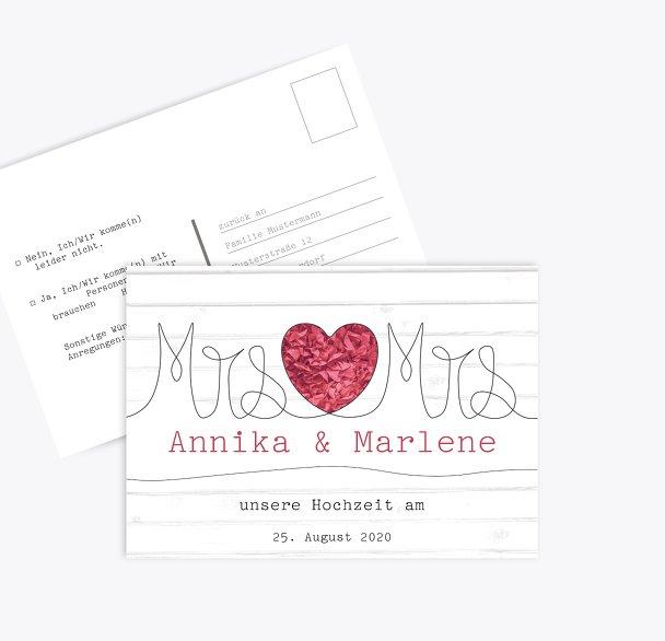 Antwortkarte Mrs&Mrs