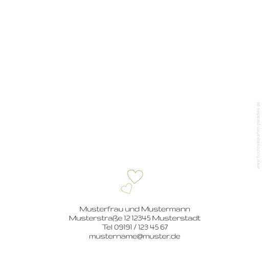 Ansicht 2 - Hochzeit Dankeskarte Herzblume