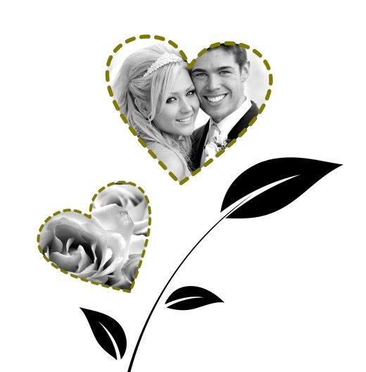 Ansicht 4 - Hochzeit Dankeskarte Herzblume