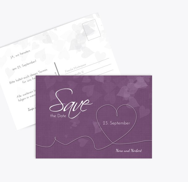 Hochzeit Save-the-Date ewiges Band