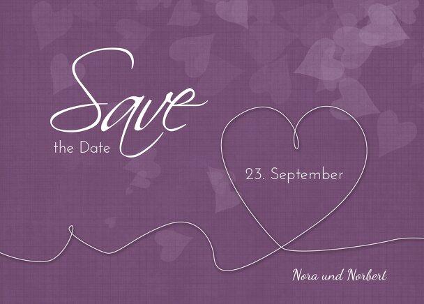 Ansicht 2 - Hochzeit Save-the-Date ewiges Band