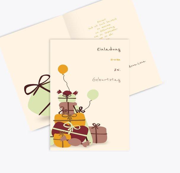 Einladungskarte giftmountain