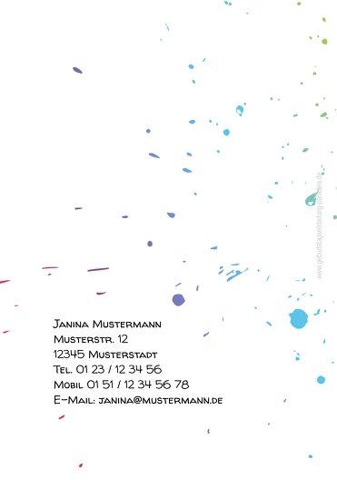 Ansicht 2 - Karte 18. Geburtstag bunte Party 18