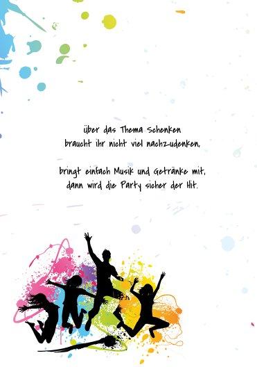 Ansicht 4 - Karte 18. Geburtstag bunte Party 18