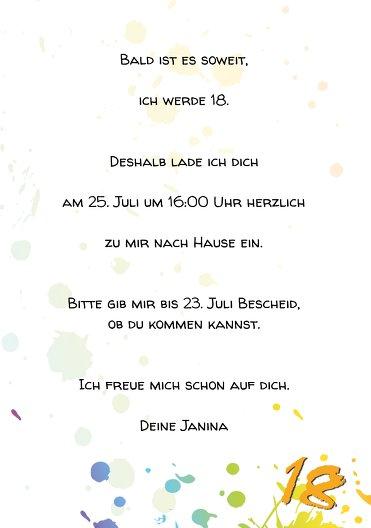 Ansicht 5 - Karte 18. Geburtstag bunte Party 18