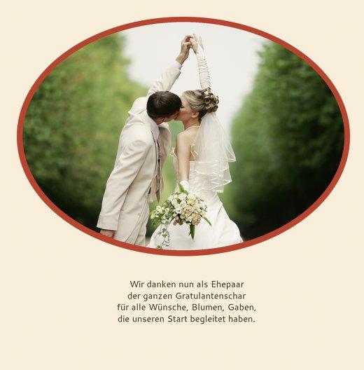 Ansicht 4 - Hochzeit Dankeskarte Turteltäubchen