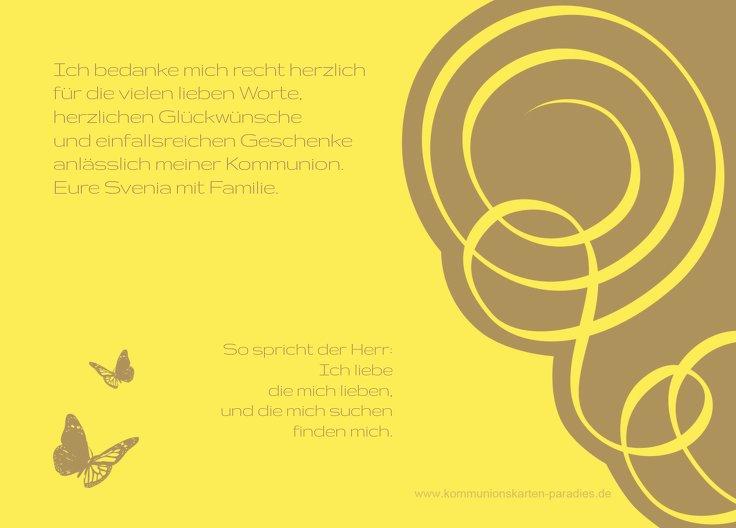 Ansicht 3 - Kommunion Dankeskarte Butterfly