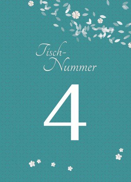 Ansicht 2 - Tischnummer romantic flower