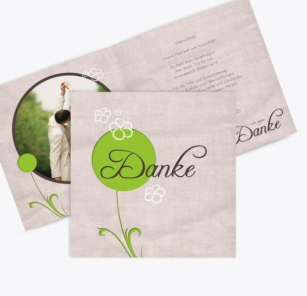Hochzeit Dankeskarte Fantasyflower