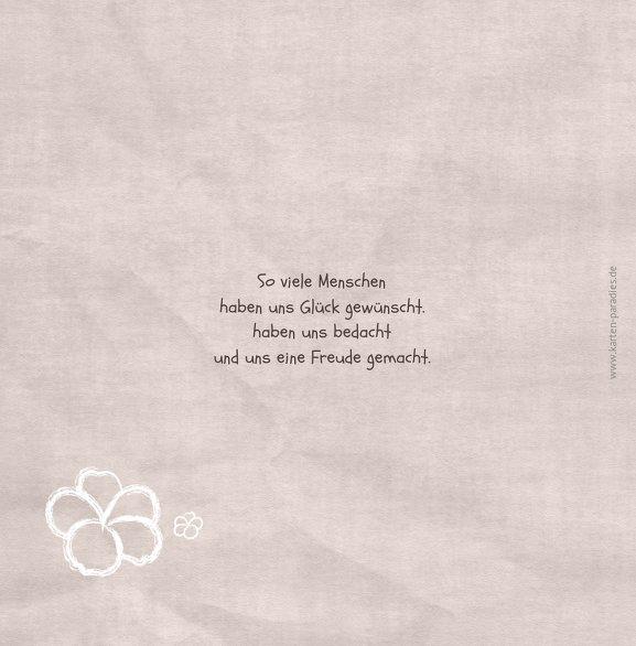 Ansicht 2 - Hochzeit Dankeskarte Fantasyflower