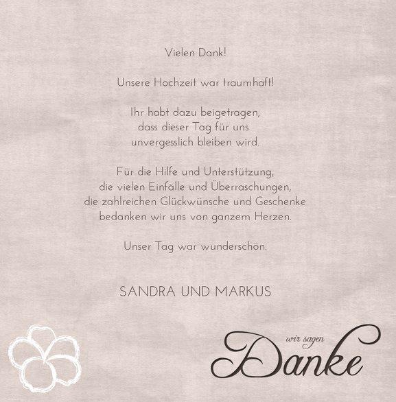 Ansicht 5 - Hochzeit Dankeskarte Fantasyflower