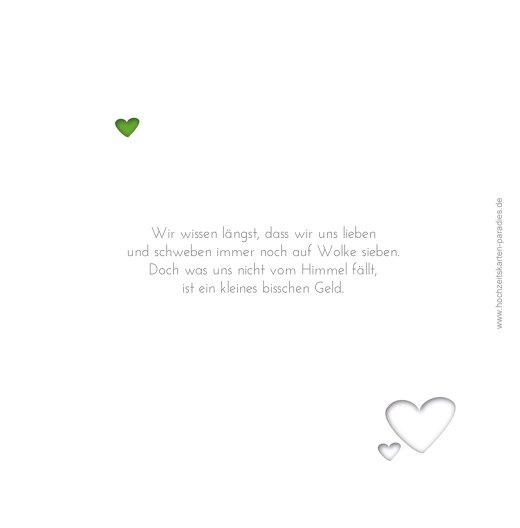 Ansicht 2 - Hochzeit Einladung Herzform