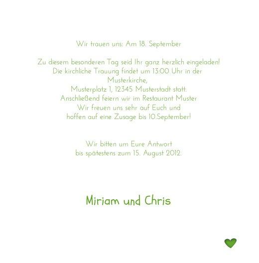 Ansicht 5 - Hochzeit Einladung Herzform