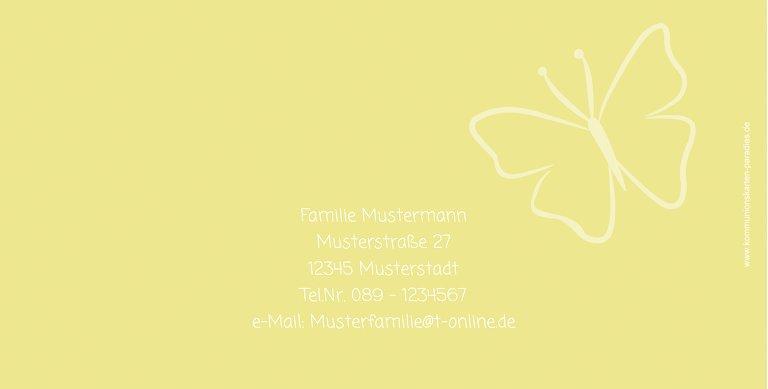 Ansicht 3 - Kommunion Danke Butterfly 2