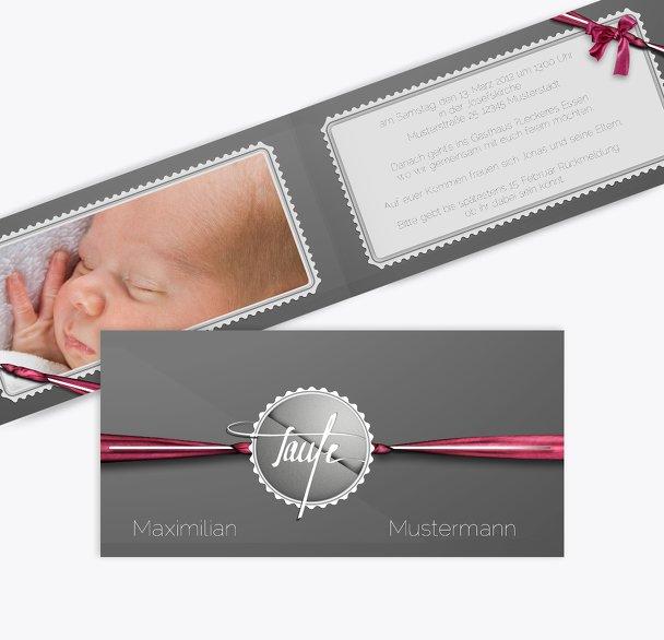 Taufkarte Ribbon