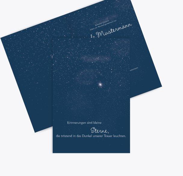 Dankeskarte starry sky
