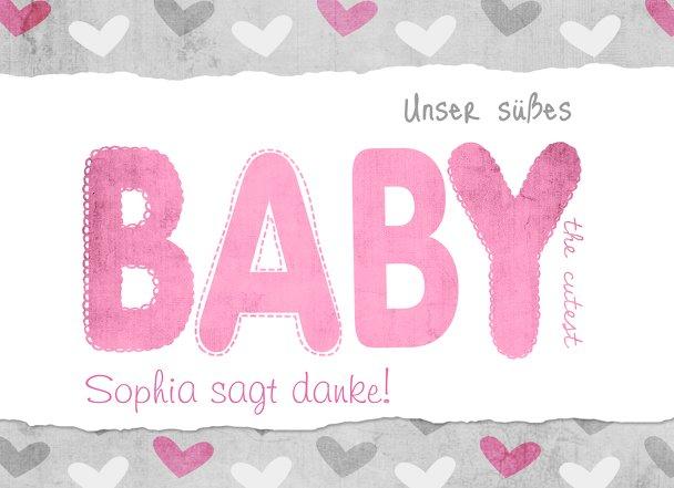 Ansicht 3 - Baby Dankeskarte Cute Baby