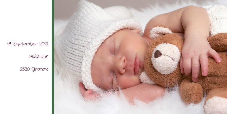 Ansicht 5 - Baby Dankeskarte Zweifarbklang